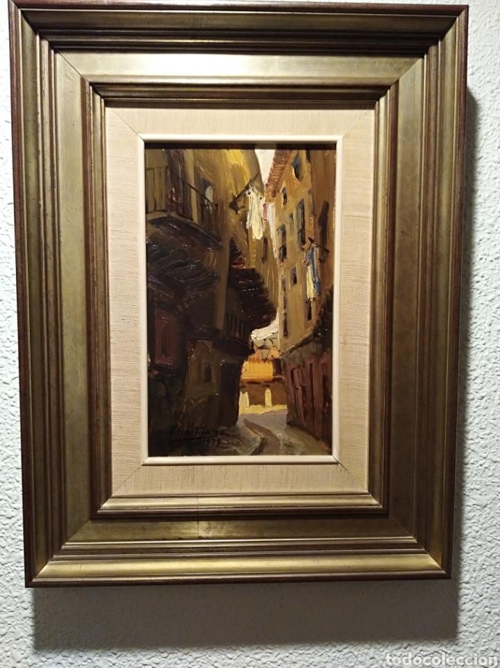 ÓLEO VICENTE ARMIÑANA TEMA ALBARRACIN (Arte - Pintura Directa del Autor)