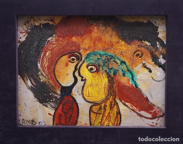 MATT LAMB (CHICAGO 1932-2012) EXCEPCIONAL OBRA DEL GRAN INNOVADOR DEL ARTE CONTEMPORÁNEO (Arte - Pintura - Pintura al Óleo Contemporánea )