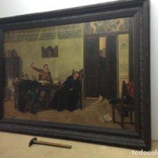 Arte: EXTRAORDINARIO PINTURA AL ÓLEO RAMÓN GARCÍA ESPINOLA MUSEO DEL PRADO ESCENA DON QUIJOTE. Lote 181021503