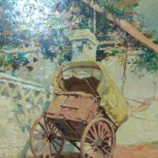 Arte: CUADRO OLEO SOBRE LIENZO FIRMADO AÑOS 70 PINTOR VIRGILIO GALAN ROMAN ( MALAGA 1931/2001) REF.350. Lote 201723261