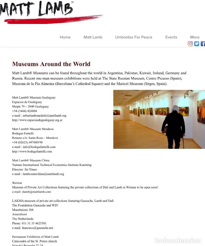 Arte: MATT LAMB (Chicago 1932-2012) Excepcional obra del gran innovador del arte contemporáneo - Foto 5 - 180982737