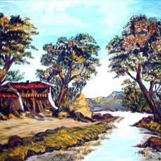 Arte: CUADRO ÓLEO SOBRE LIENZO AÑOS 60. Lote 181036323