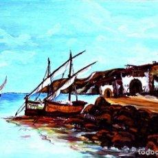 Arte: CUADRO ÓLEO SOBRE LIENZO AÑOS 60. Lote 181036430