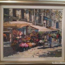 Arte: PINTURA AL ÓLEO COBOS , ENMARCADA. Lote 181075145