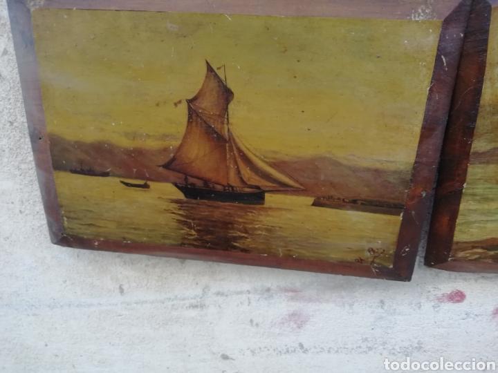 Arte: Pareja de tablas pintadas al óleo - Foto 2 - 181122827