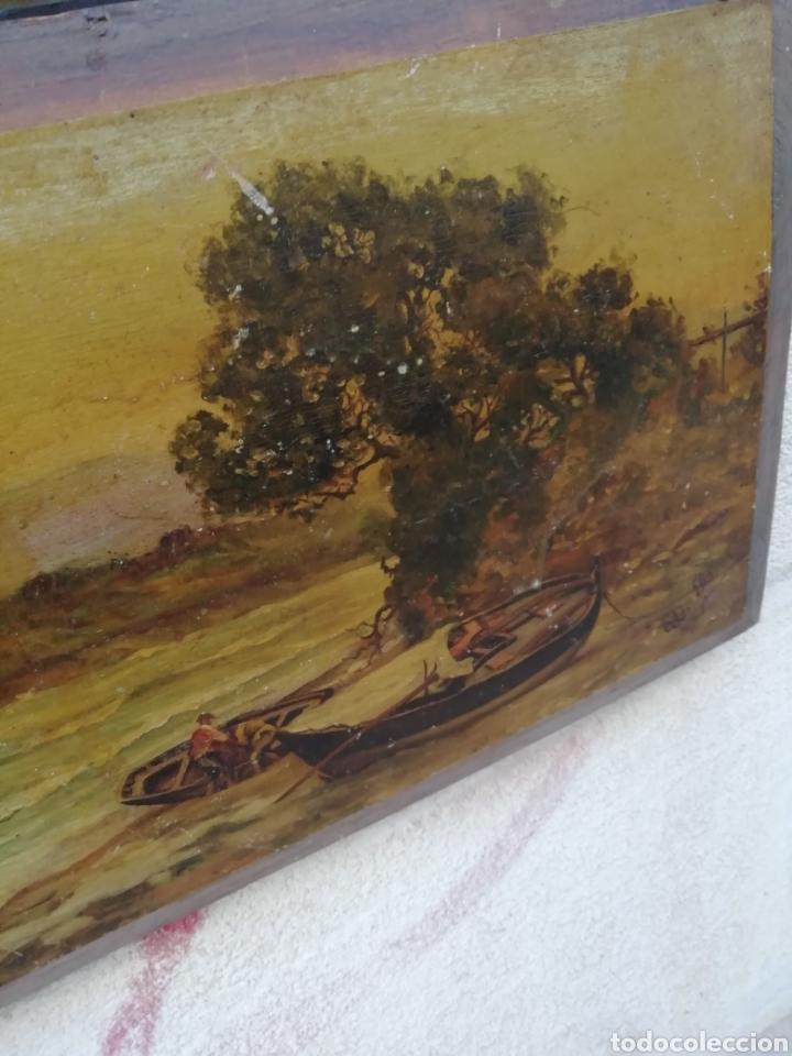Arte: Pareja de tablas pintadas al óleo - Foto 5 - 181122827