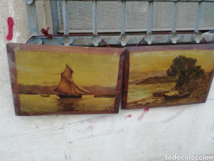 PAREJA DE TABLAS PINTADAS AL ÓLEO (Arte - Pintura - Pintura al Óleo Antigua sin fecha definida)