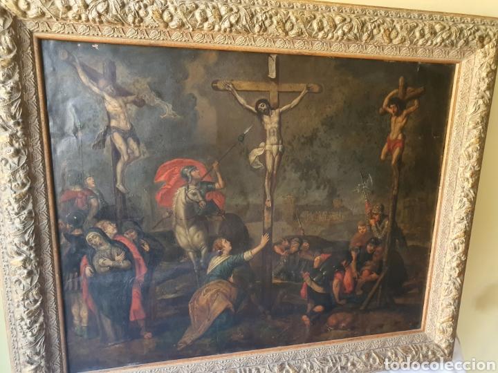 Arte: Oleo sobre cobre xvii calvario - Foto 2 - 181190020