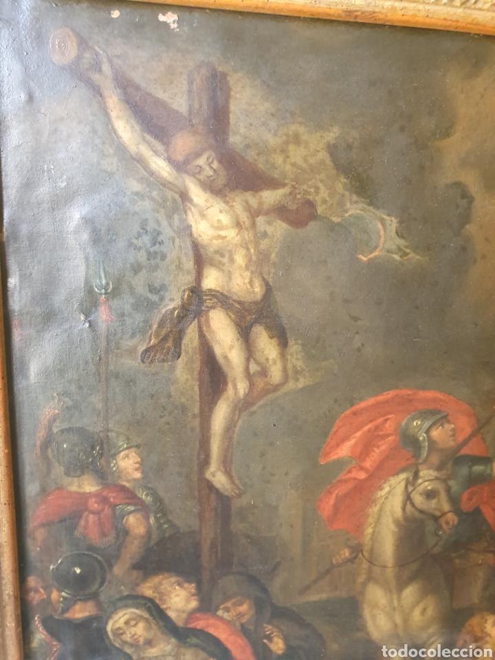 Arte: Oleo sobre cobre xvii calvario - Foto 4 - 181190020