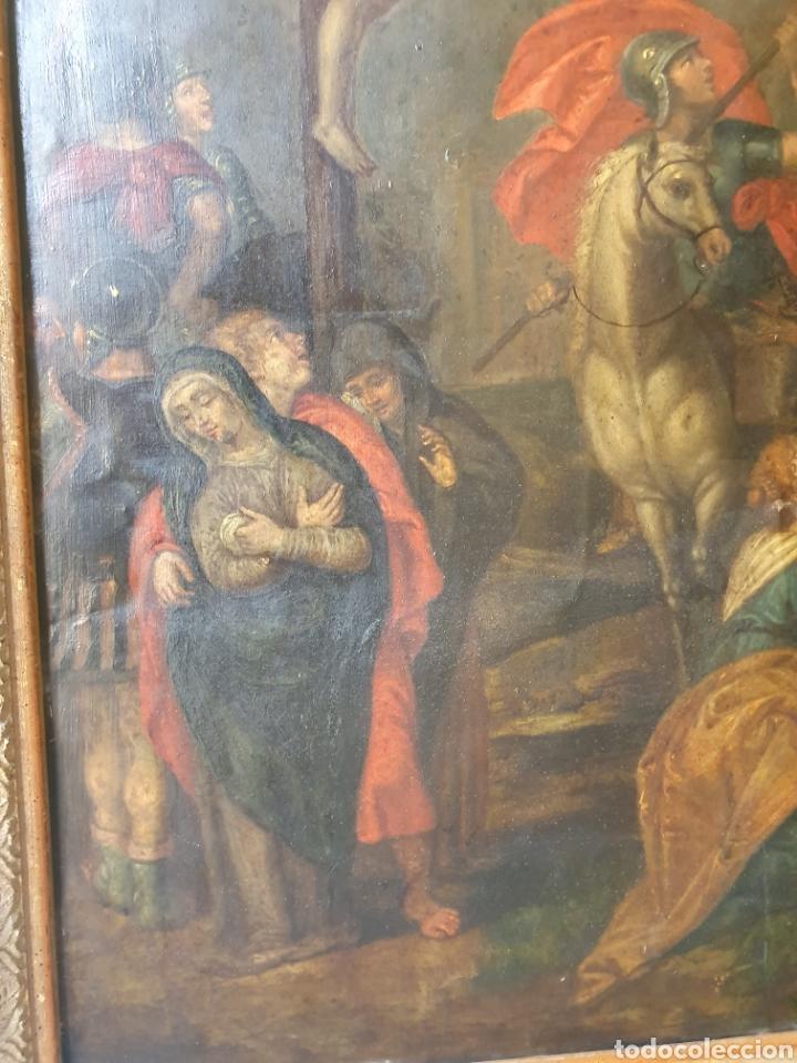 Arte: Oleo sobre cobre xvii calvario - Foto 5 - 181190020