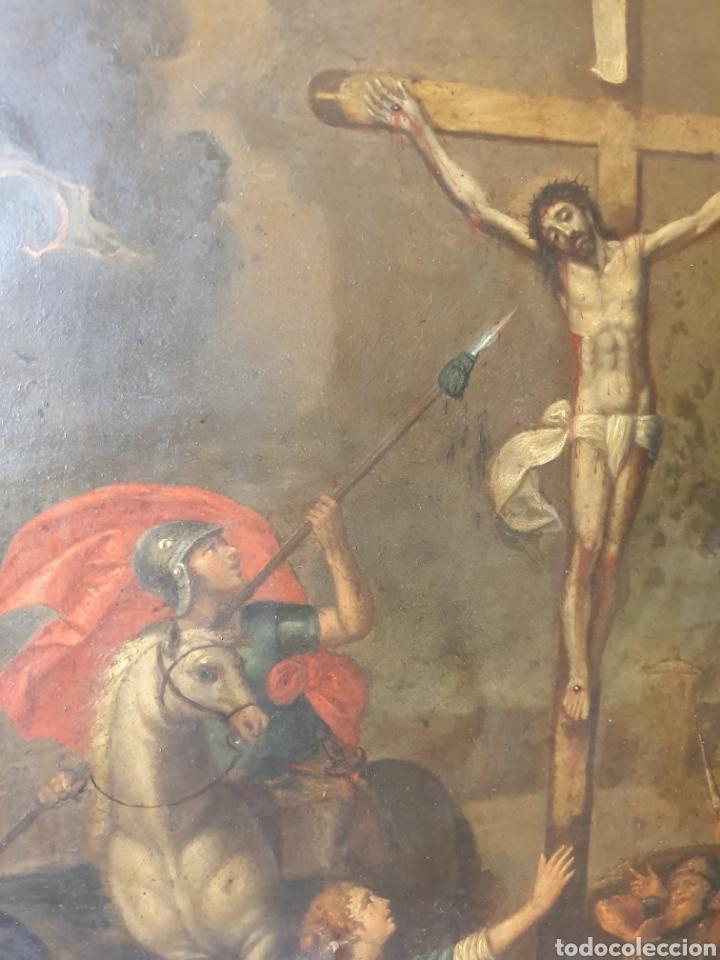 Arte: Oleo sobre cobre xvii calvario - Foto 6 - 181190020