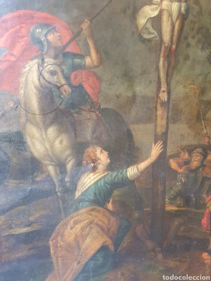 Arte: Oleo sobre cobre xvii calvario - Foto 7 - 181190020