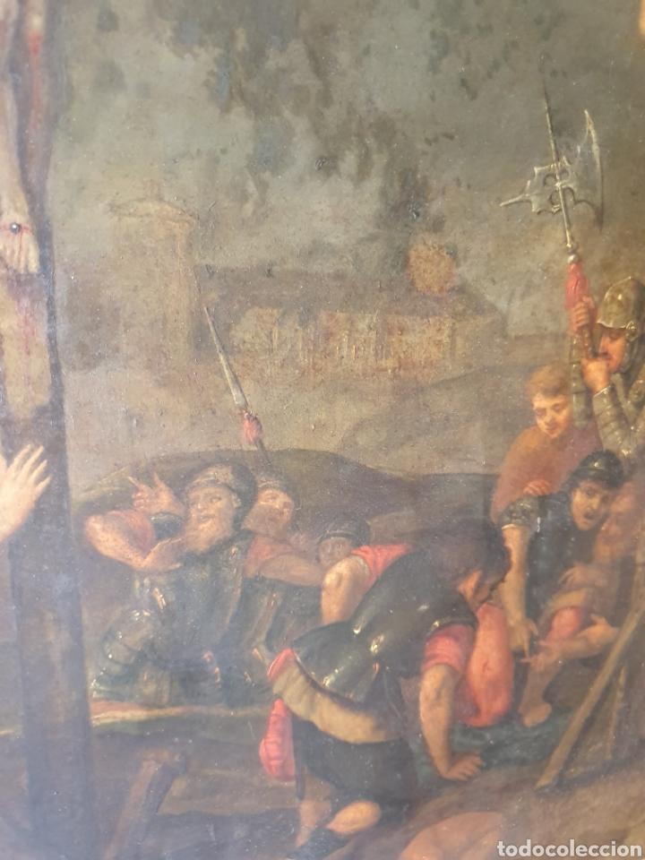 Arte: Oleo sobre cobre xvii calvario - Foto 8 - 181190020
