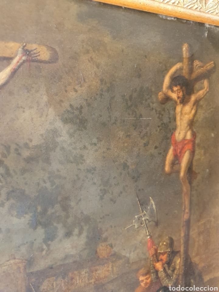 Arte: Oleo sobre cobre xvii calvario - Foto 9 - 181190020