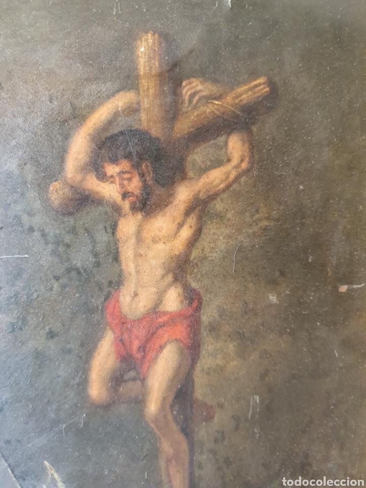 Arte: Oleo sobre cobre xvii calvario - Foto 10 - 181190020