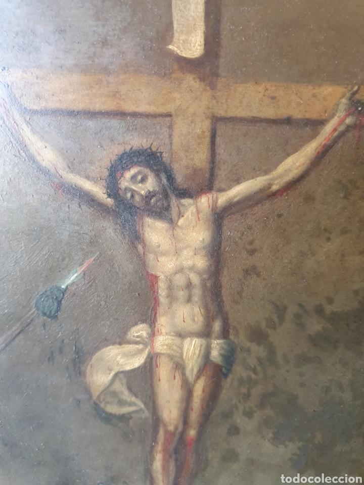 Arte: Oleo sobre cobre xvii calvario - Foto 12 - 181190020