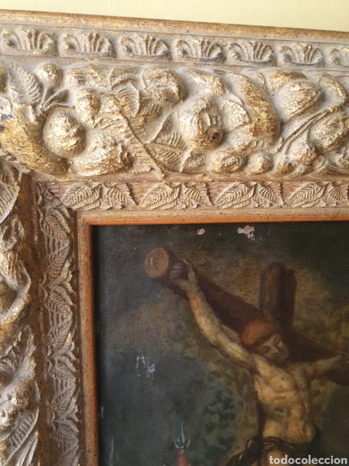 Arte: Oleo sobre cobre xvii calvario - Foto 14 - 181190020