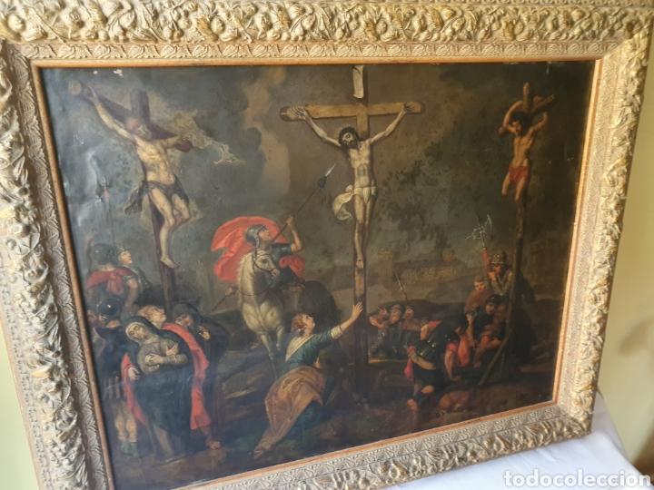 Arte: Oleo sobre cobre xvii calvario - Foto 15 - 181190020