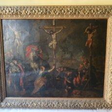 Arte: OLEO SOBRE COBRE XVII CALVARIO. Lote 181190020