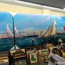 Arte: REGATA DE VELEROS POR EL GENIAL ARTISTA F.SANCHIS . Lote 181437192