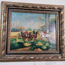 Arte: PINTURA EN TABLA CON MARCÓ DORADO. Lote 181491850