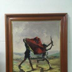 Arte: PINTURA AL ÓLEO SOBRE LIENZO FIRMADA. Lote 181498993