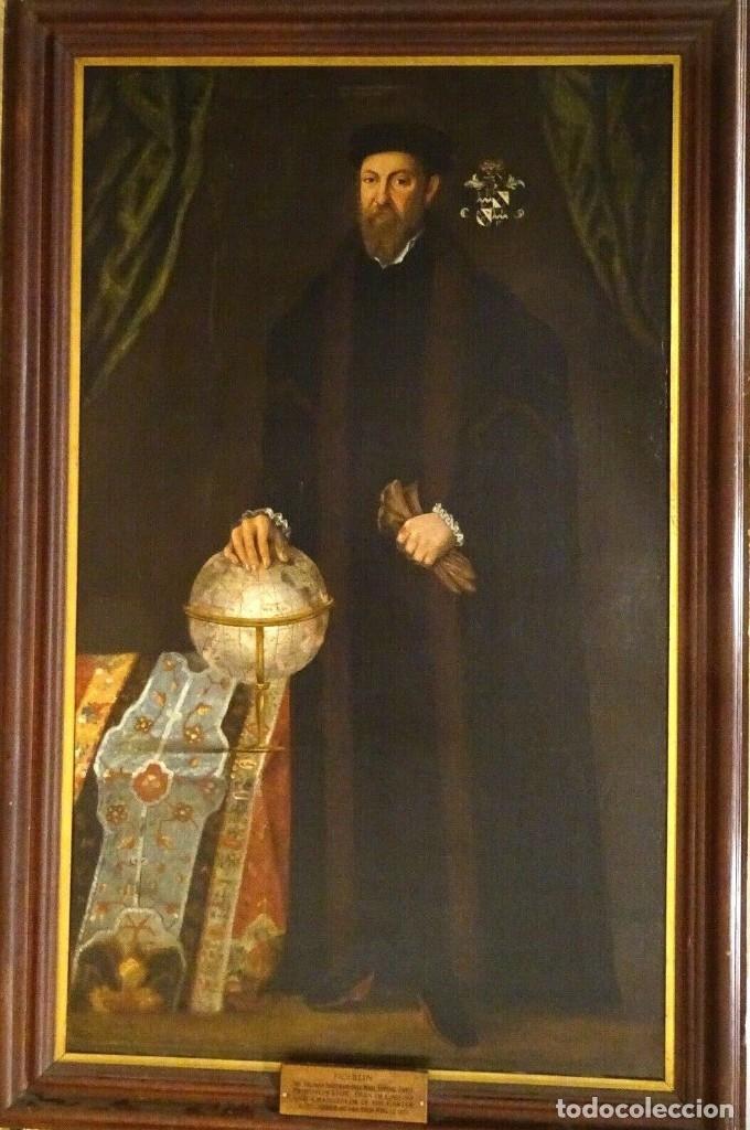 GRAN OBRA DE ARTE RETRATO DE SIR THOMAS SMITH, ESCUELA DE HANS HOLBEIN (1497-1543)ALREDEDOR DE 1540 (Arte - Pintura - Pintura al Óleo Antigua siglo XVI)