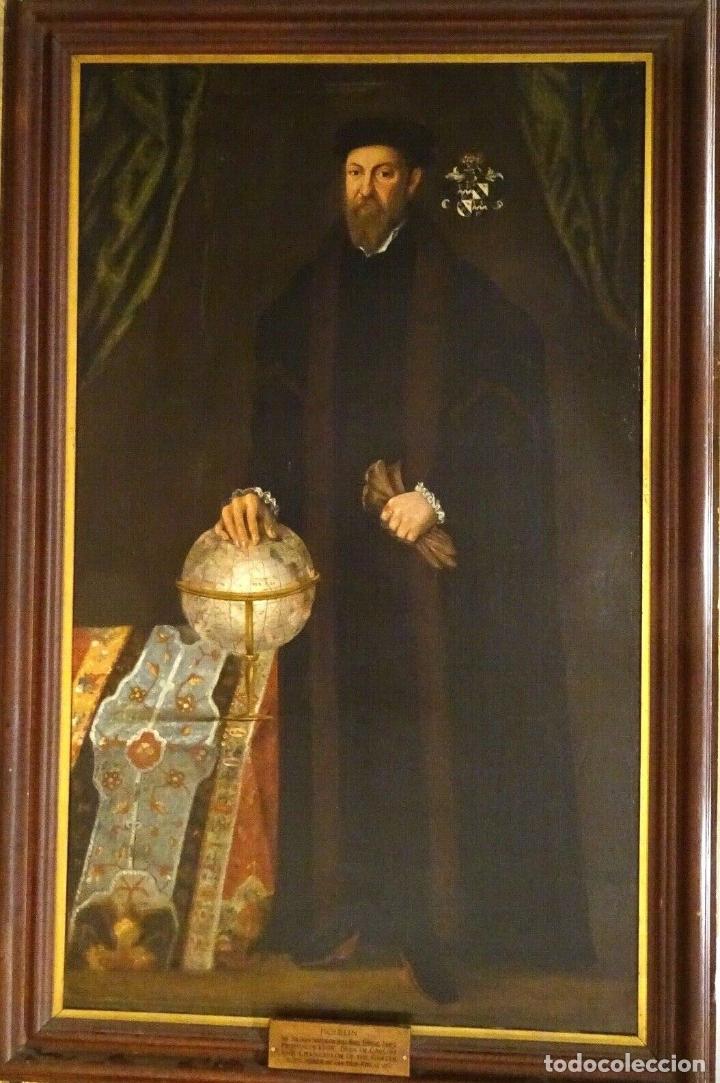 Arte: GRAN OBRA DE ARTE RETRATO DE SIR THOMAS SMITH, ESCUELA DE HANS HOLBEIN (1497-1543)ALREDEDOR DE 1540 - Foto 2 - 181554988