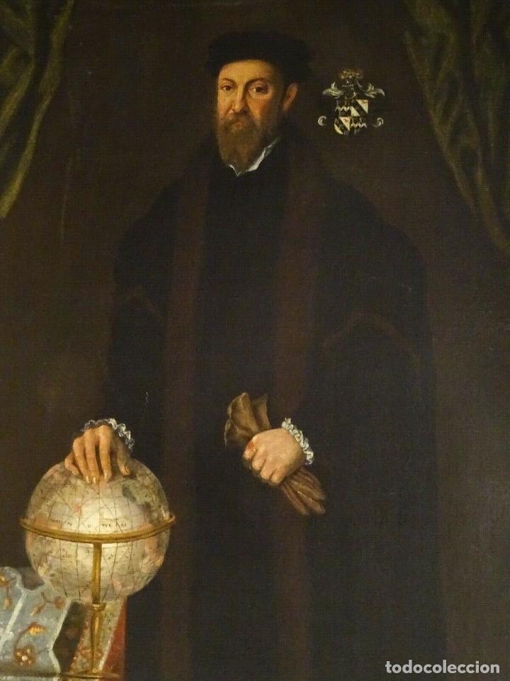 Arte: GRAN OBRA DE ARTE RETRATO DE SIR THOMAS SMITH, ESCUELA DE HANS HOLBEIN (1497-1543)ALREDEDOR DE 1540 - Foto 3 - 181554988