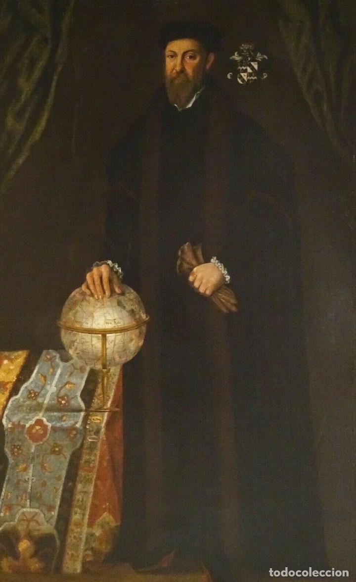 Arte: GRAN OBRA DE ARTE RETRATO DE SIR THOMAS SMITH, ESCUELA DE HANS HOLBEIN (1497-1543)ALREDEDOR DE 1540 - Foto 4 - 181554988