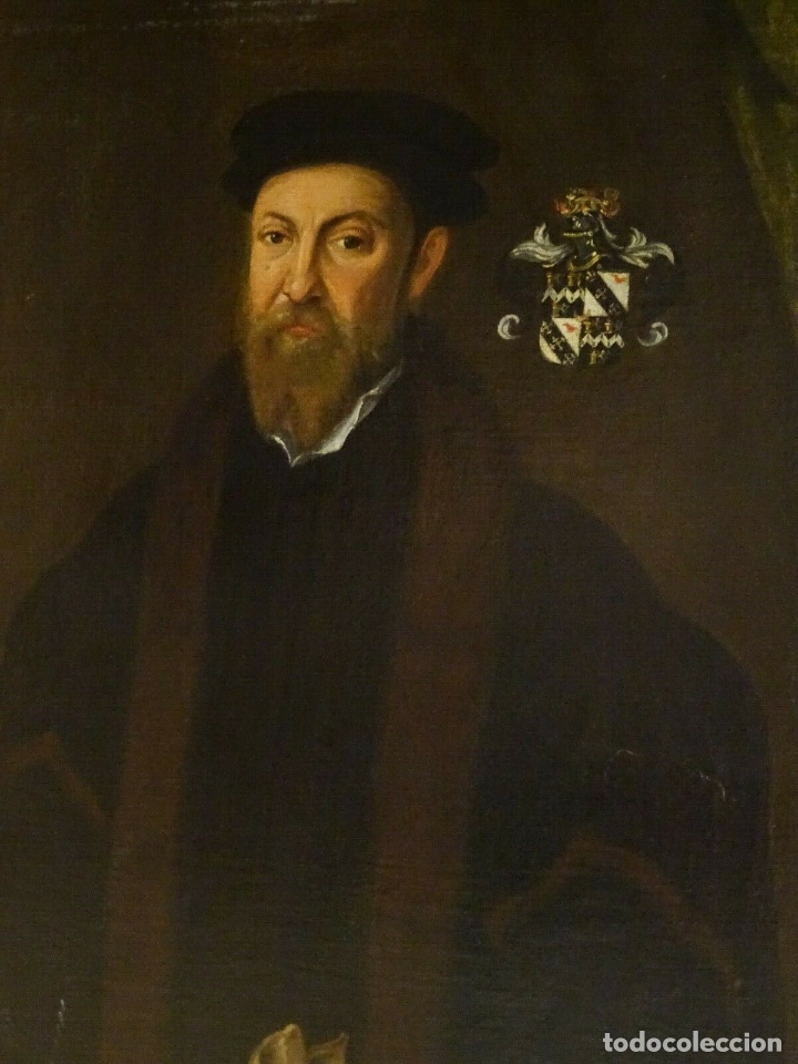 Arte: GRAN OBRA DE ARTE RETRATO DE SIR THOMAS SMITH, ESCUELA DE HANS HOLBEIN (1497-1543)ALREDEDOR DE 1540 - Foto 6 - 181554988