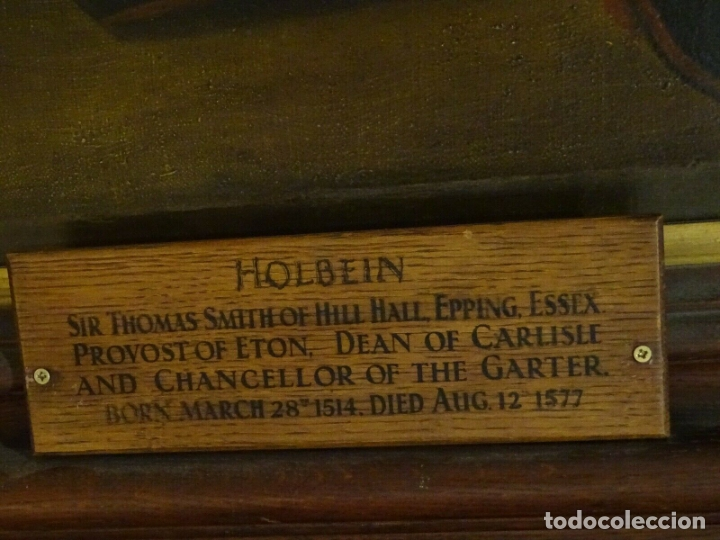 Arte: GRAN OBRA DE ARTE RETRATO DE SIR THOMAS SMITH, ESCUELA DE HANS HOLBEIN (1497-1543)ALREDEDOR DE 1540 - Foto 8 - 181554988