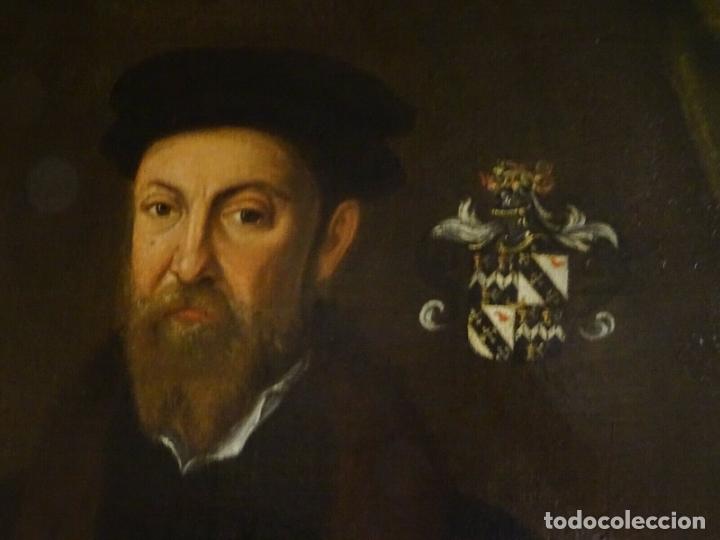 Arte: GRAN OBRA DE ARTE RETRATO DE SIR THOMAS SMITH, ESCUELA DE HANS HOLBEIN (1497-1543)ALREDEDOR DE 1540 - Foto 9 - 181554988