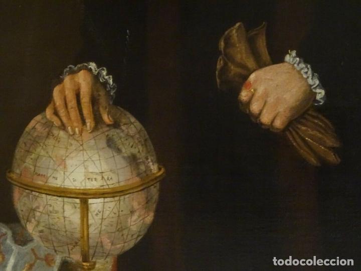 Arte: GRAN OBRA DE ARTE RETRATO DE SIR THOMAS SMITH, ESCUELA DE HANS HOLBEIN (1497-1543)ALREDEDOR DE 1540 - Foto 10 - 181554988
