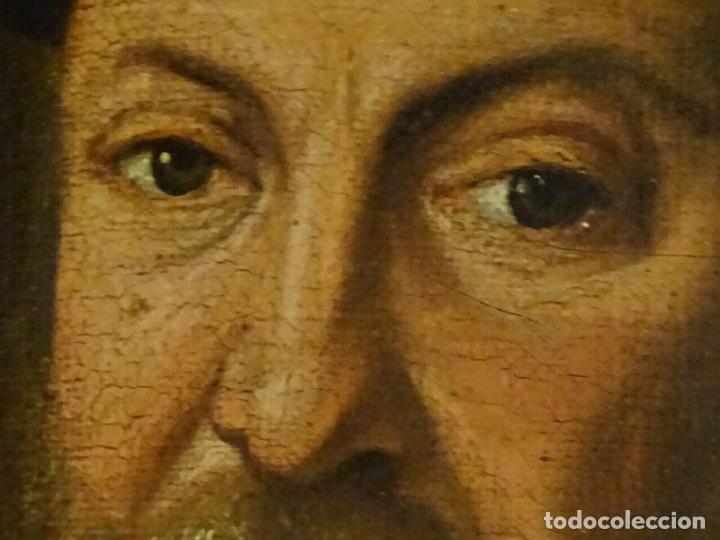 Arte: GRAN OBRA DE ARTE RETRATO DE SIR THOMAS SMITH, ESCUELA DE HANS HOLBEIN (1497-1543)ALREDEDOR DE 1540 - Foto 12 - 181554988