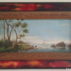 Arte: RICARDO MARTÍ AGUILÓ (BARCELONA, 1868-1936) - PAISAJE I MARINA.OLEO/TABLA.FIRMADO.. Lote 181542637