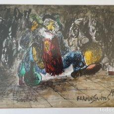 Arte: LA SED DEL VINO. FERMIN SANTOS. Lote 181558671