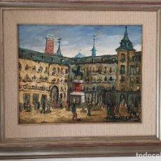 Arte: PLAZA MAYOR DE MADRID. FERMÍN SANTOS. Lote 181560232