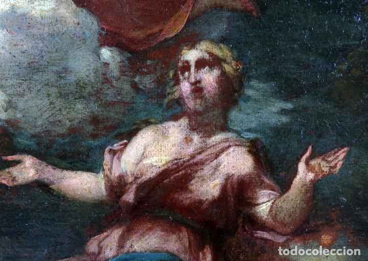 Arte: Diana y Endimión óleo sobre lienzo escuela italiana del siglo XVII - Foto 3 - 181563355