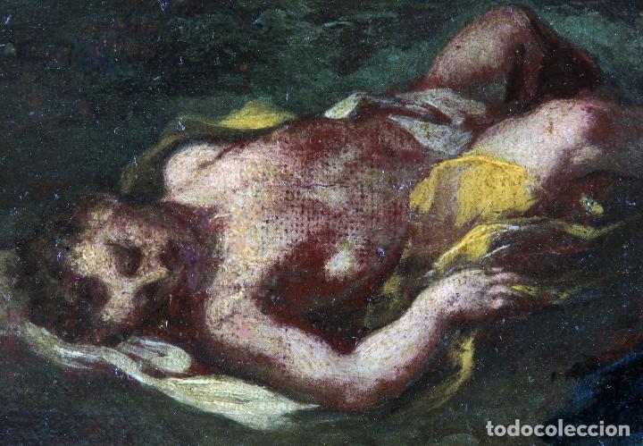 Arte: Diana y Endimión óleo sobre lienzo escuela italiana del siglo XVII - Foto 5 - 181563355