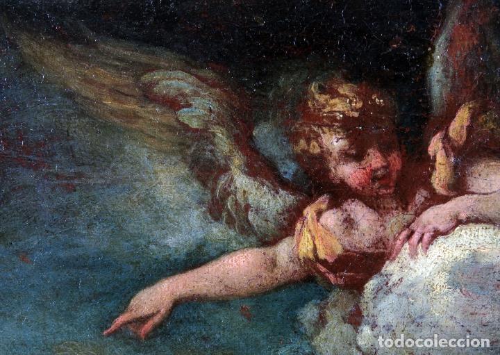 Arte: Diana y Endimión óleo sobre lienzo escuela italiana del siglo XVII - Foto 6 - 181563355