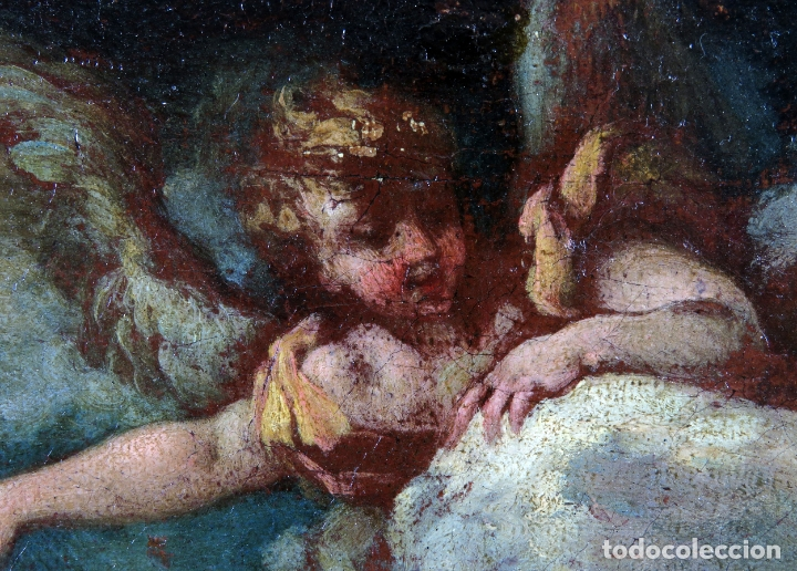 Arte: Diana y Endimión óleo sobre lienzo escuela italiana del siglo XVII - Foto 7 - 181563355