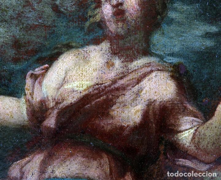 Arte: Diana y Endimión óleo sobre lienzo escuela italiana del siglo XVII - Foto 8 - 181563355