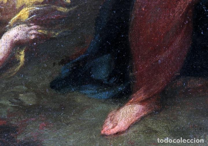 Arte: Diana y Endimión óleo sobre lienzo escuela italiana del siglo XVII - Foto 9 - 181563355