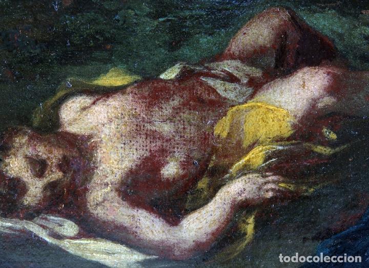Arte: Diana y Endimión óleo sobre lienzo escuela italiana del siglo XVII - Foto 10 - 181563355