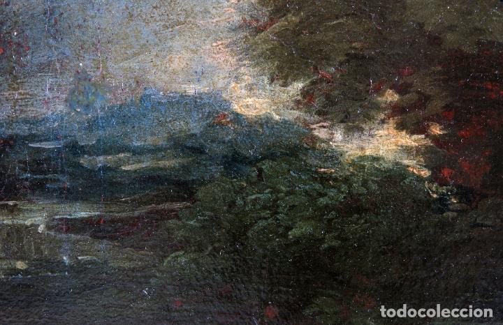 Arte: Diana y Endimión óleo sobre lienzo escuela italiana del siglo XVII - Foto 11 - 181563355
