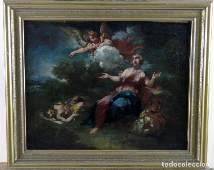 DIANA Y ENDIMIÓN ÓLEO SOBRE LIENZO ESCUELA ITALIANA DEL SIGLO XVII (Arte - Pintura - Pintura al Óleo Antigua siglo XVII)