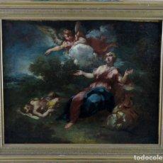 Arte: DIANA Y ENDIMIÓN ÓLEO SOBRE LIENZO ESCUELA ITALIANA DEL SIGLO XVII. Lote 181563355