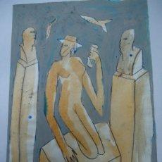 Arte: PRECIOSO Y ORIGINAL DE JORGE CABEZAS A CORUÑA 1997 MIDE 29 X 20CM. EN PERFECTO ESTADO ES ORIGINAL . Lote 181566847