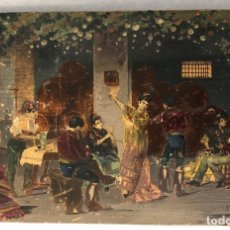 Arte: OLEO SOBRE TABLA CON ESCENA DE TABLAO ANDALUZ. C. 1925. F. SABORIDO, SEVILLA. Lote 181573491